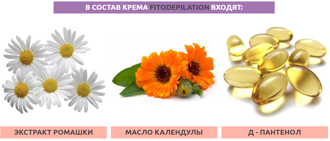 СОСТАВ КРЕМА FITODEPILATION