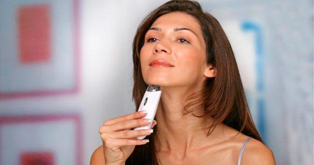 Удаление волос на лице эпилятором